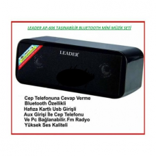 Leader AP 606 Usb Bluetooth FM Mini Taşınabilir Ses Sistemi